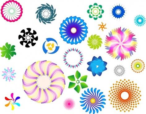 kaleidoscope design elements colorful rotating circles decor