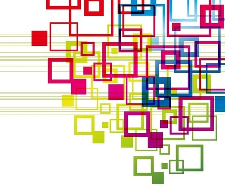 Vector Colorful Squares Vector Backgound