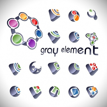 logo templates shiny geometric gray decor