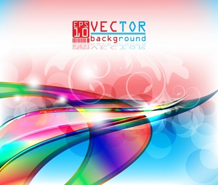 vector colorful threedimensional background soft lines