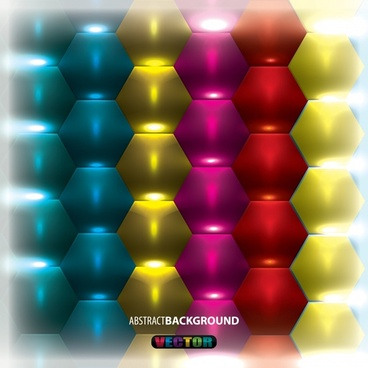 vector colorful threedimensional hexagonal background