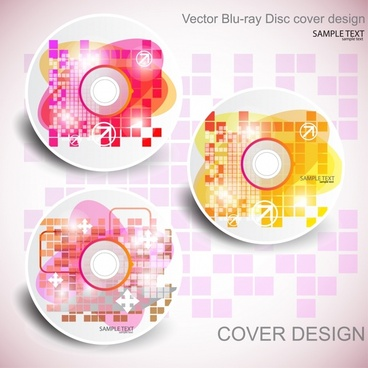 disk cover templates modern sparkling colorful decor