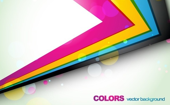 colorful 3d geometric background arrow edge ornament