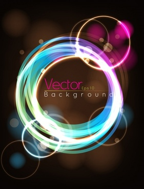 light effect background colorful circles modern bokeh decor