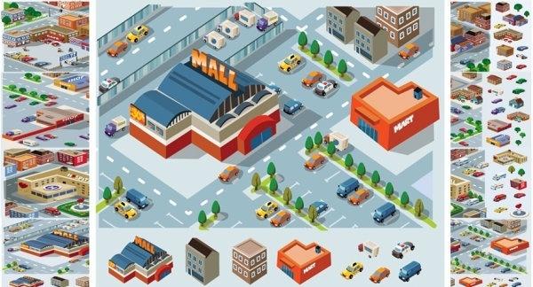 vector construction of community facilities