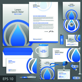 vector corporate identity template kit