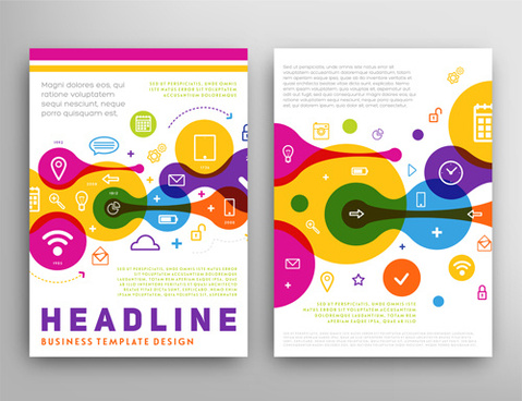vector cover brochure headline design