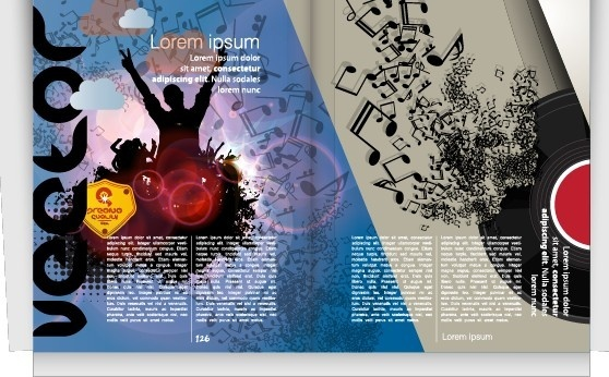 vector cover of brochure and magazine design