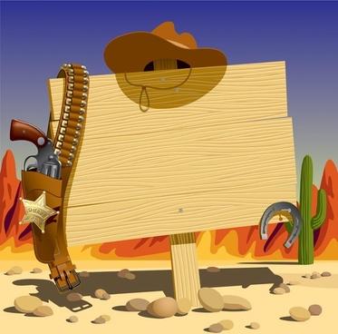 vector cowboy bulletin board