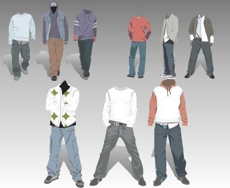 vector cowboy costumes