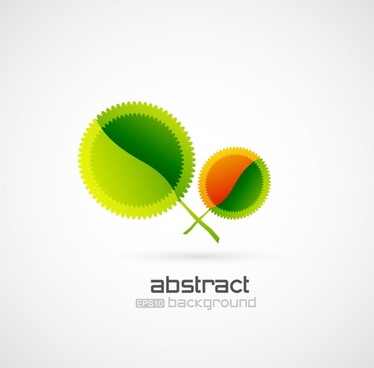 vector creative background green leaves