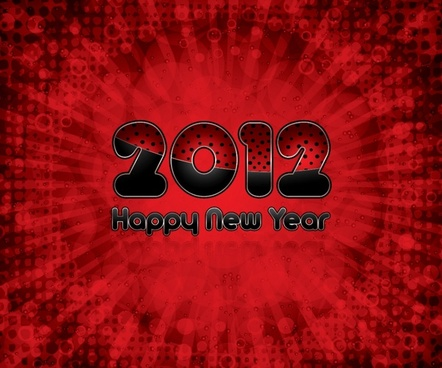 vector creative fonts 2012happy new year