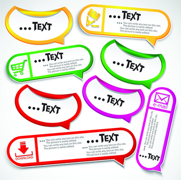 vector creative speech bubbles elements set