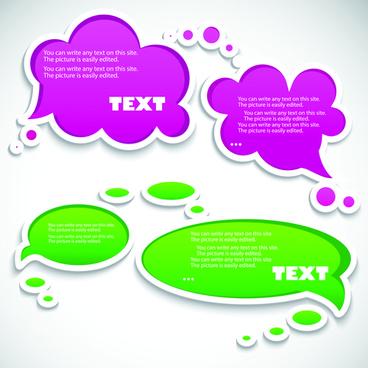vector creative speech bubbles elements set