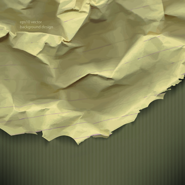 vector crumpled paper background set