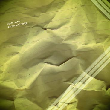 vector crumpled paper background set