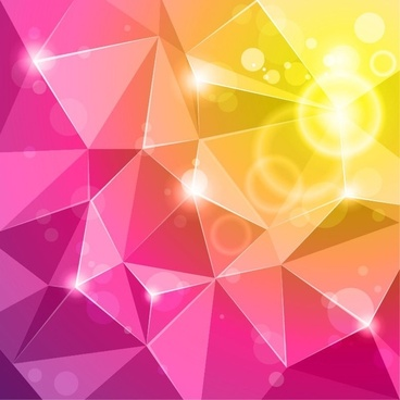 Vector Crystal Abstract Background