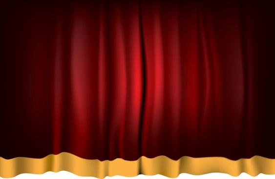 curtain background red shiny classical decor