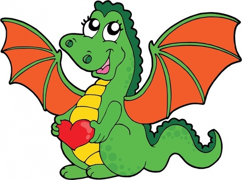 dragon icon cute handdrawn cartoon sketch