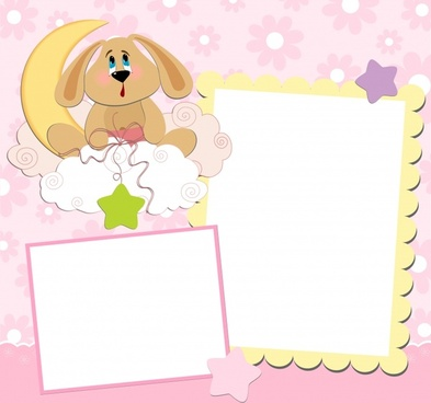 baby shower card cute stars moon dog decor