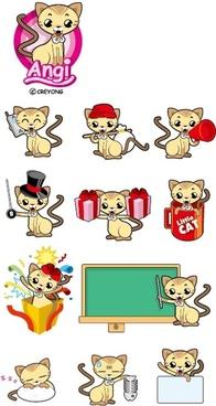 vector cute kitten