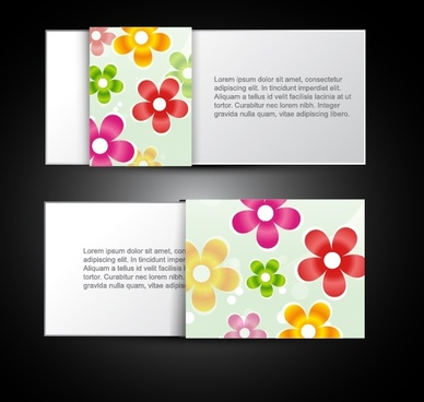 card templates shiny bright colorful petals decor