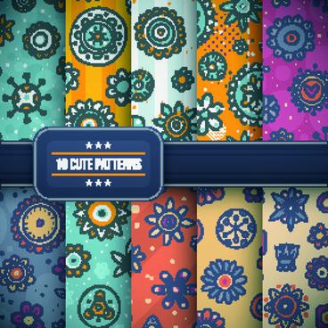 vector cute patterns design
