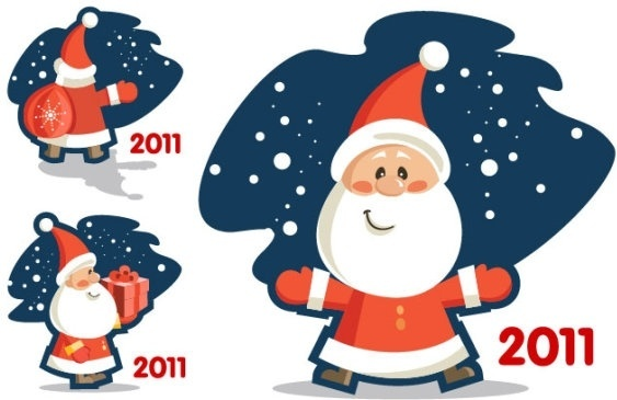 vector cute santa claus 2011