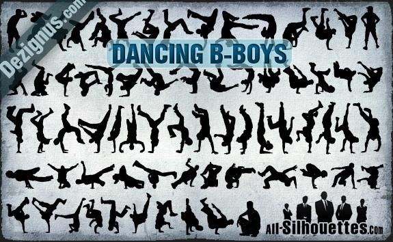 Vector Dancing B-boys