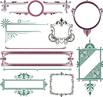 vector decoration frame and borders illustration