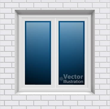 vector decorative doors and windows