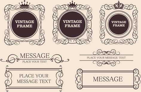 Ornate vintage frame set free vector download (31,488 Free vector ...