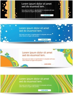headline banners templates modern colorful decor