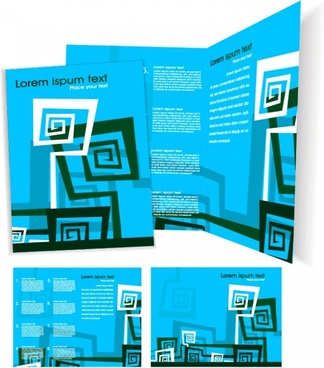 brochure templates modern abstract decor blue design