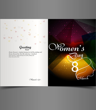 vector design for womens day greeting card for element colorful design