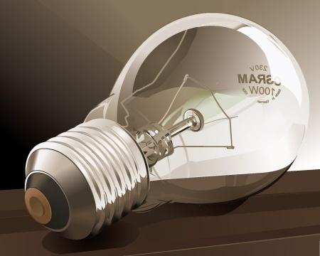 light bulb icon design closeup transparent style