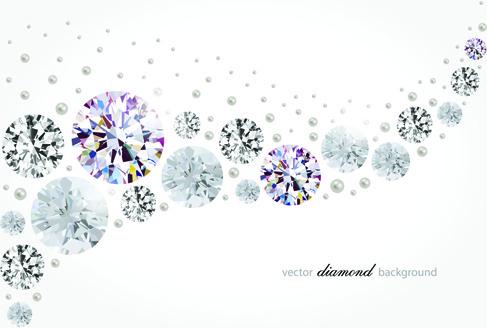 vector diamonds backgrounds shiny design