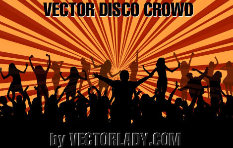 vector disco crowd
