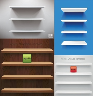 vector display of shelf space