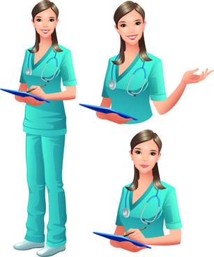 vector doctor design elements set