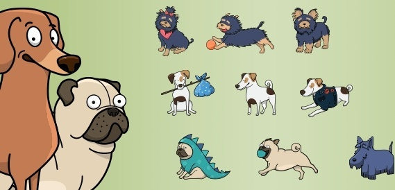 vector dogs collection vol1
