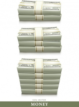 money stack icons modern 3d design