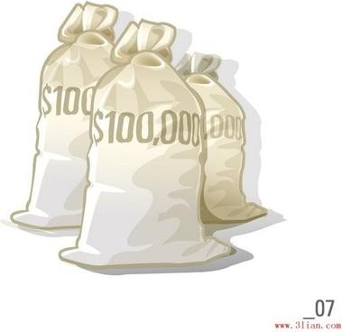 vector dollar purse