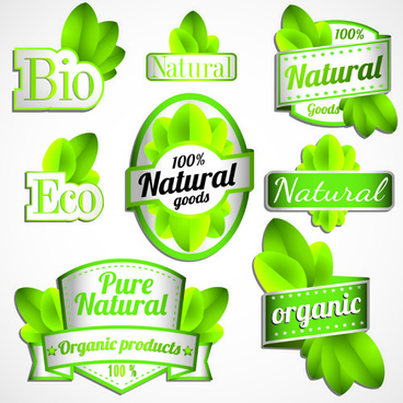 vector eco labels set