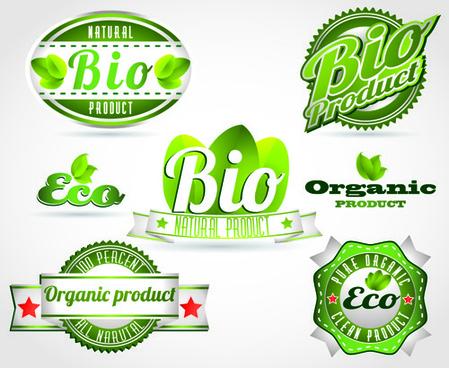 vector eco labels set
