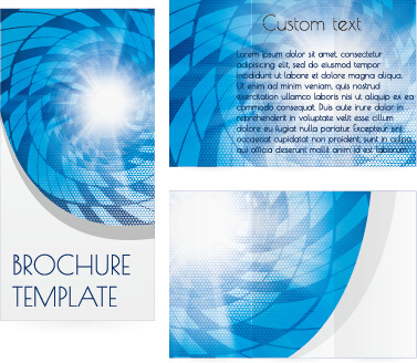 vector ecology brochure cover template
