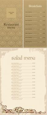 vector elegant menu