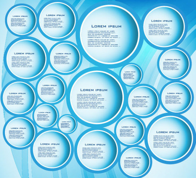 vector elements of circle and cloud for the text template