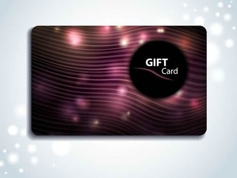 gift card template sparkling dark dynamic lines