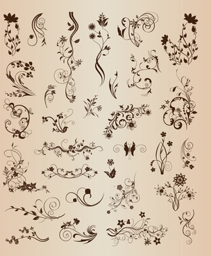 vector elements vintage ornamental design
